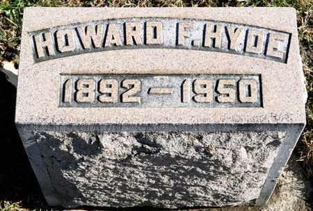 HYDE, HOWARD F - Richland County, Ohio   HOWARD F HYDE - Ohio Gravestone Photos