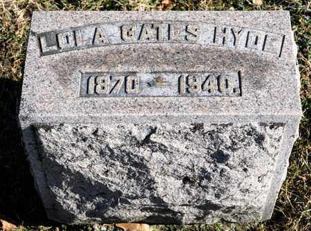 GATES HYDE, LOLA - Richland County, Ohio | LOLA GATES HYDE - Ohio Gravestone Photos
