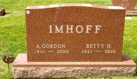 IMHOFF, A GORDON - Richland County, Ohio | A GORDON IMHOFF - Ohio Gravestone Photos