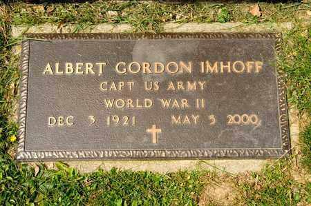 IMHOFF, ALBERT GORDON - Richland County, Ohio | ALBERT GORDON IMHOFF - Ohio Gravestone Photos