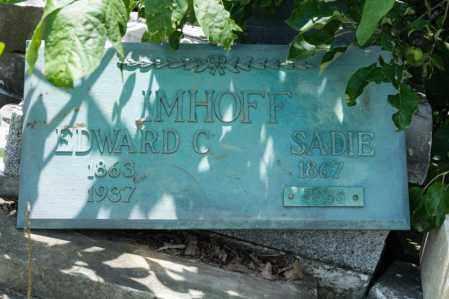 IMHOFF, SADIE - Richland County, Ohio | SADIE IMHOFF - Ohio Gravestone Photos
