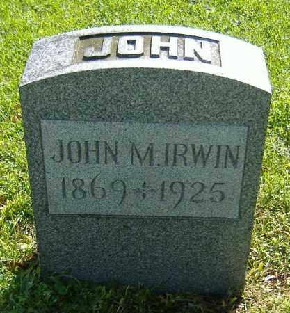 IRWIN, JOHN M. - Richland County, Ohio | JOHN M. IRWIN - Ohio Gravestone Photos