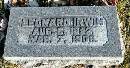 IRWIN, LEONARD - Richland County, Ohio | LEONARD IRWIN - Ohio Gravestone Photos
