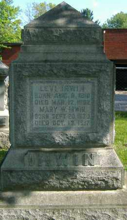 IRWIN, LEVI - Richland County, Ohio | LEVI IRWIN - Ohio Gravestone Photos
