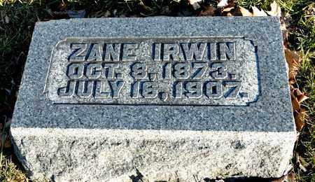 IRWIN, ZANE - Richland County, Ohio | ZANE IRWIN - Ohio Gravestone Photos