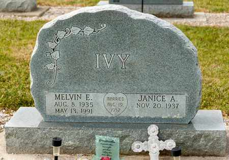 IVY, MELVIN E - Richland County, Ohio | MELVIN E IVY - Ohio Gravestone Photos