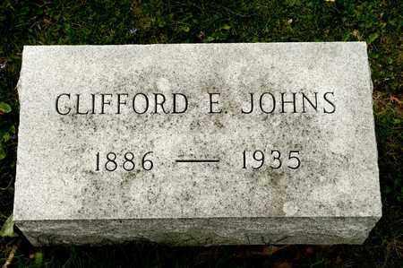 JOHNS, CLIFFORD E - Richland County, Ohio | CLIFFORD E JOHNS - Ohio Gravestone Photos