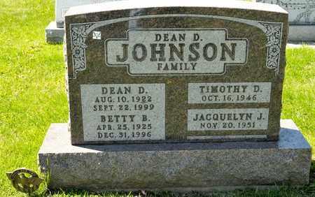 JOHNSON, DEAN D - Richland County, Ohio | DEAN D JOHNSON - Ohio Gravestone Photos