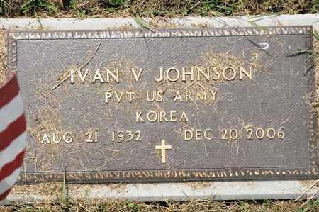 JOHNSON, IVAN V - Richland County, Ohio | IVAN V JOHNSON - Ohio Gravestone Photos
