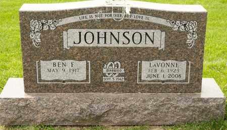 JOHNSON, LAVONNE - Richland County, Ohio   LAVONNE JOHNSON - Ohio Gravestone Photos