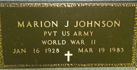 JOHNSON, MARION J - Richland County, Ohio | MARION J JOHNSON - Ohio Gravestone Photos