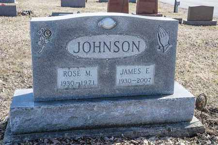 JOHNSON, JAMES E - Richland County, Ohio | JAMES E JOHNSON - Ohio Gravestone Photos