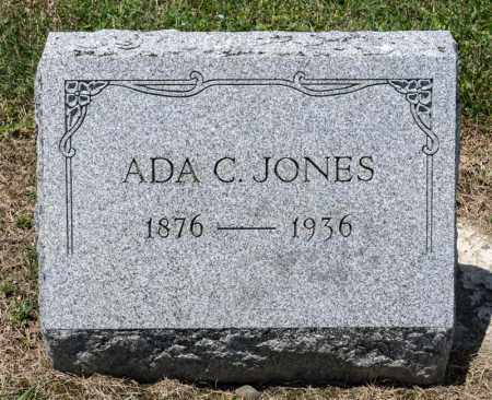 JONES, ADA C - Richland County, Ohio | ADA C JONES - Ohio Gravestone Photos