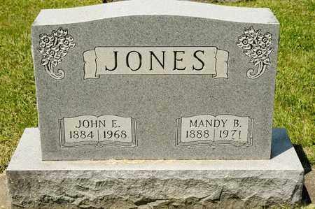 JONES, JOHN E - Richland County, Ohio   JOHN E JONES - Ohio Gravestone Photos