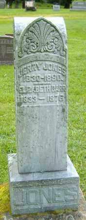 JONES, ELIZABETH BARR - Richland County, Ohio   ELIZABETH BARR JONES - Ohio Gravestone Photos