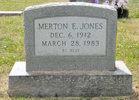 JONES, MERTON E - Richland County, Ohio | MERTON E JONES - Ohio Gravestone Photos