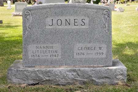 JONES, NANNIE - Richland County, Ohio | NANNIE JONES - Ohio Gravestone Photos