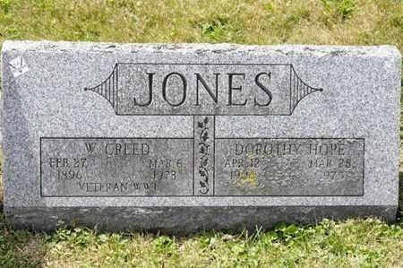 JONES, W CREED - Richland County, Ohio | W CREED JONES - Ohio Gravestone Photos