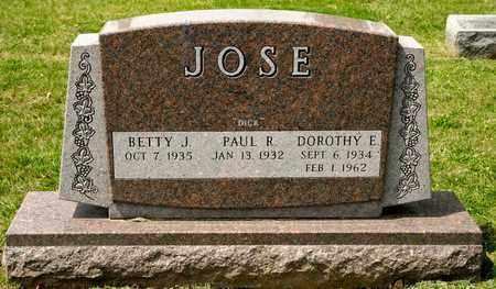 JOSE, DOROTHY E - Richland County, Ohio   DOROTHY E JOSE - Ohio Gravestone Photos