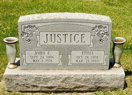 JUSTICE, ETHEL - Richland County, Ohio | ETHEL JUSTICE - Ohio Gravestone Photos