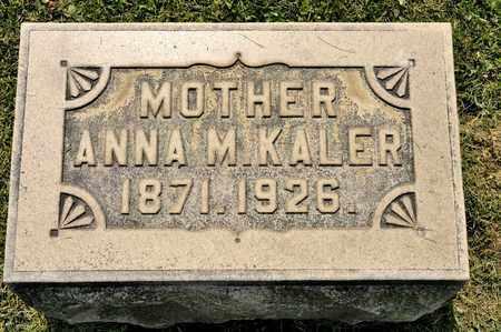 KALER, ANNA M - Richland County, Ohio   ANNA M KALER - Ohio Gravestone Photos
