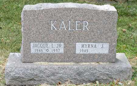 KALER JR, JACQUE L - Richland County, Ohio | JACQUE L KALER JR - Ohio Gravestone Photos