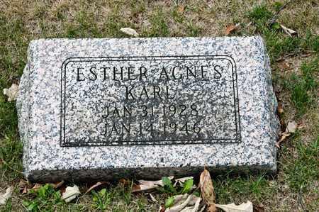 KARL, ESTHER AGNES - Richland County, Ohio | ESTHER AGNES KARL - Ohio Gravestone Photos