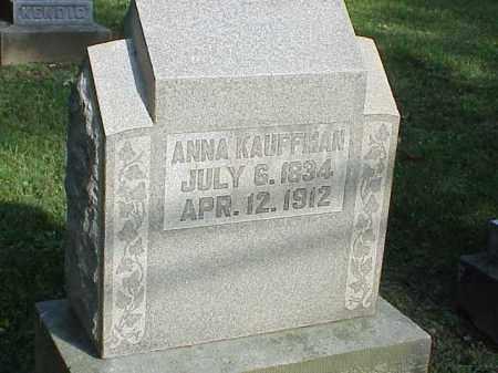 KAUFFMAN, ANNA - Richland County, Ohio   ANNA KAUFFMAN - Ohio Gravestone Photos