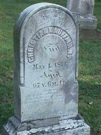KAUFFMAN, CHRISTIAN - Richland County, Ohio | CHRISTIAN KAUFFMAN - Ohio Gravestone Photos