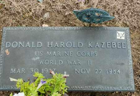 KAZEBEE, DONALD HAROLD - Richland County, Ohio | DONALD HAROLD KAZEBEE - Ohio Gravestone Photos