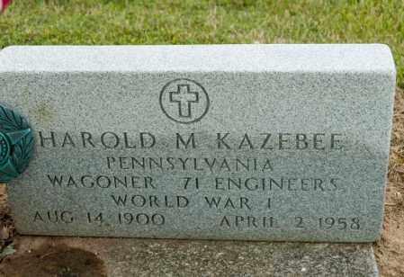 KAZEBEE, HAROLD M - Richland County, Ohio | HAROLD M KAZEBEE - Ohio Gravestone Photos