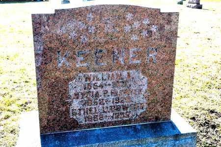 KEENER, WILLIAM A - Richland County, Ohio | WILLIAM A KEENER - Ohio Gravestone Photos