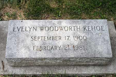 WOODWORTH KEHOE, EVELYN - Richland County, Ohio | EVELYN WOODWORTH KEHOE - Ohio Gravestone Photos