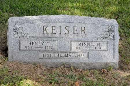 KEISER, MINNIE N - Richland County, Ohio | MINNIE N KEISER - Ohio Gravestone Photos