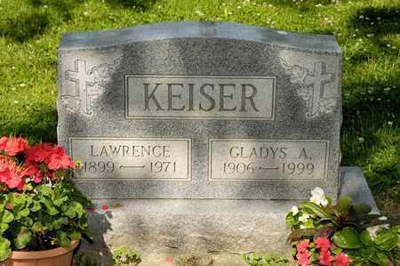 KEISER, LAWRENCE - Richland County, Ohio | LAWRENCE KEISER - Ohio Gravestone Photos