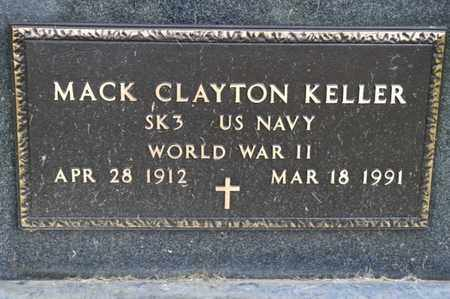 KELLER, MACK CLAYTON - Richland County, Ohio | MACK CLAYTON KELLER - Ohio Gravestone Photos