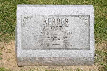 KERBER, ALBERT E - Richland County, Ohio | ALBERT E KERBER - Ohio Gravestone Photos