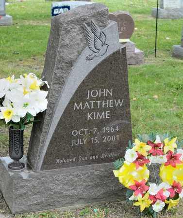 KIME, JOHN MATTHEW - Richland County, Ohio   JOHN MATTHEW KIME - Ohio Gravestone Photos