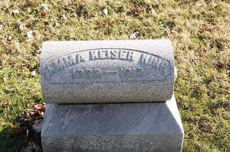 KEISER KING, EMMA - Richland County, Ohio | EMMA KEISER KING - Ohio Gravestone Photos