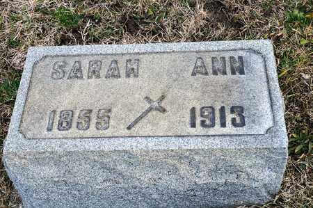 KING, SARAH ANN - Richland County, Ohio | SARAH ANN KING - Ohio Gravestone Photos