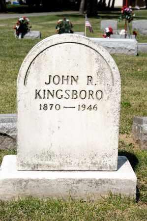 KINGSBORO, JOHN R - Richland County, Ohio | JOHN R KINGSBORO - Ohio Gravestone Photos