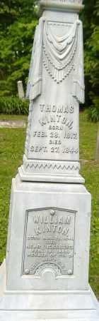 KINTON, WILLIAM - Richland County, Ohio   WILLIAM KINTON - Ohio Gravestone Photos