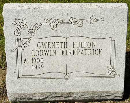 FULTON KIRKPATRICK, GWENETH - Richland County, Ohio   GWENETH FULTON KIRKPATRICK - Ohio Gravestone Photos