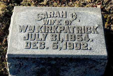 KIRKPATRICK, SARAH C - Richland County, Ohio | SARAH C KIRKPATRICK - Ohio Gravestone Photos