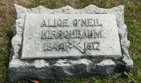 O'NEIL KIRSCHBAUM, ALICE - Richland County, Ohio   ALICE O'NEIL KIRSCHBAUM - Ohio Gravestone Photos