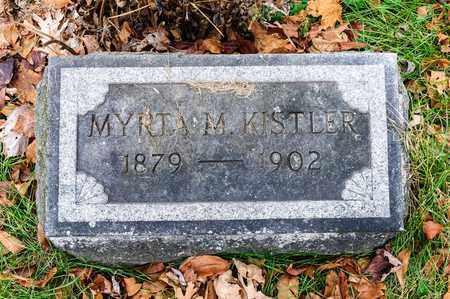 KISTLER, MYRTA M - Richland County, Ohio | MYRTA M KISTLER - Ohio Gravestone Photos