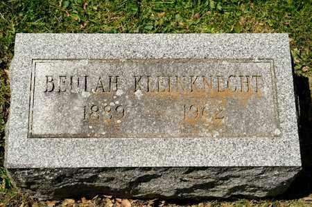 KLEINKNECHT, BEULAH - Richland County, Ohio | BEULAH KLEINKNECHT - Ohio Gravestone Photos