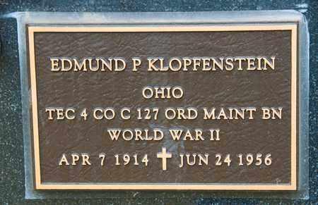 KLOPFENSTEIN, EDMUND P - Richland County, Ohio | EDMUND P KLOPFENSTEIN - Ohio Gravestone Photos