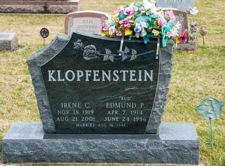 KLOPFENSTEIN, EDMUND P - Richland County, Ohio   EDMUND P KLOPFENSTEIN - Ohio Gravestone Photos