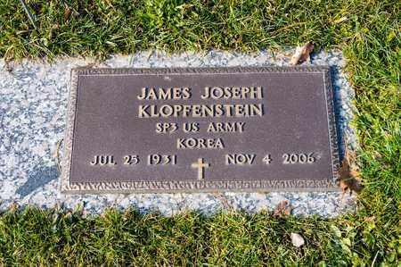 KLOPFENSTEIN, JAMES JOSEPH - Richland County, Ohio   JAMES JOSEPH KLOPFENSTEIN - Ohio Gravestone Photos